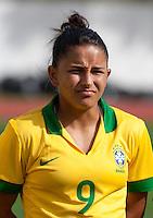 "Fifa Womans World Cup Canada 2015 - Preview //<br /> Algarve Cup 2015 Tournament ( Municipal Stadium - Albufeira , Portugal ) - <br /> Brazil vs China 0-0 - Debora Cristiane de Oliveira  "" Debinha "" of Brazil"