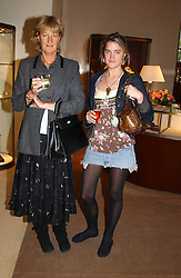 Left to right, BARONESS VON WESTENHOLTZ and her daughter VIOLET VON WESTENHOLTZat a party to celebrate the publication of 'Last Voyage of The Valentina' by Santa Montefiore at Asprey, 169 New Bond Street, London W1 on 12th April 2005.<br />