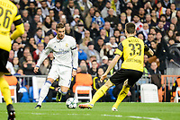 Real Madrid's Cristiano Ronaldo and Borussia Dortmund Julian Weigl during the UEFA Champions League match between Real Madrid and Borussia Dortmund at Santiago Bernabeu Stadium in Madrid, Spain. December 07, 2016. (ALTERPHOTOS/BorjaB.Hojas)