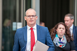 Simon Coveney, Deputy Prime Minister of Ireland, Minister for Foreign Affairs and Trade, responsibility for BREXIT in Irish Government. leaves the BBC after appearing on the Andrew Marr show as a guest.<br /> <br /> Richard Hancox | EEm 21072019