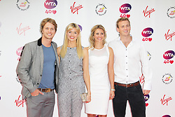 © Licensed to London News. Sam Branson; Isabella Calthorpe; Holly Branson; Freddie Andrewes, Pre-Wimbledon Party, Kensington Roof Gardens, London UK, 20 June 2013. Photo credit : Richard Goldschmidt/Piqtured/LNP