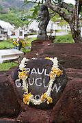 Paul Gauguin's grave, Atuona, Hiva Oa, Marquesa Islands, French Polynesia<br />