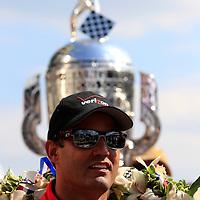 24 May, 2015, Indianapolis, Indiana, USA<br /> Juan Pablo Montoya celebrates in victory lane<br /> ©2015, Phillip Abbott<br /> LAT Photo USA