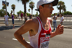 Guenther Weildlinger of Austria competes in the Mens Marathon during day six of the 20th European Athletics Championships at the roads of city Barcelona on August 1, 2010 in Barcelona, Spain. (Photo by Vid Ponikvar / Sportida)