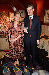 SIR PHILIP & LADY NAYLOR-LEYLAND at a party to celebrate Alice Naylor-Leyland's Collaboration with French Sole held at Annabel's, 44 Berkeley Square, London on February 2nd 2016