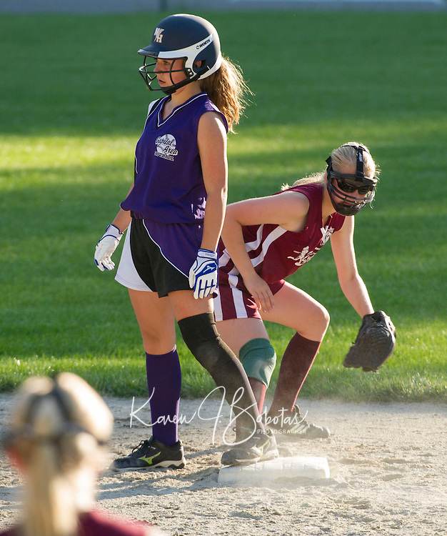 Concord Capital Area Softball at Dillon Field for the Martel Cup.  Concord Ortho versus Beckett Glass June 20, 2013.  Karen Bobotas/for the Concord Monitor