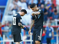 disappointment Lionel Messi (Argentina)  and Ever Banega (Argentina) <br /> Moscow 16-06-2018 Football FIFA World Cup Russia  2018 <br /> Argentina - Iceland / Argentina - Islanda<br /> Foto Matteo Ciambelli/Insidefoto