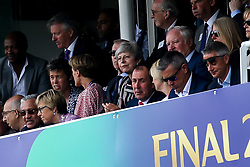 Outgoing British Prime Minister Theresa May watches the Cricket World Cup Final between England and New Zealand - Mandatory by-line: Robbie Stephenson/JMP - 14/07/2019 - CRICKET - Lords - London, England - England v New Zealand - ICC Cricket World Cup 2019 - Final