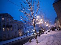 15.01.2014 Warszawa N/z swiateczne ozdoby na ulicy Krakowskie Przedmiescie fot Michal Kosc / AGENCJA WSCHOD