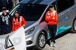 Jurij Tepes, Maja Vtic and Spela Rogelj at media day of Ski Association of Slovenia before new winter season 2018/19, on October 4, 2018 in Ski resort Pohorje, Maribor, Slovenia. Photo by Grega Valancic / Sportida