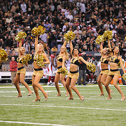 16 January 2010:  New Orleans Saints Saintsations cheerleaders perform during a 45-14 win by the New Orleans Saints over the Arizona Cardinals in the 2010 NFC Divisional Playoff game at the Louisiana Superdome in New Orleans, Louisiana.