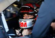 NASCAR Sprint Cup Series auto racing driver Jeff Gordon at Kansas Speedway in Kansas City, Kan., Friday, Oct. 16, 2015. (AP Photo/Colin E. Braley)