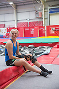 Anna Vincenti at the Leeds Gymnastic Club on 21st July 2017 in Leeds, United Kingdom. Leeds Gymnastic Club is one of the training facilities for the GB Snow team in the UK.
