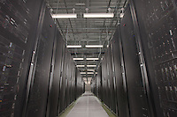 Manassas VA Date center server room from low camera angle