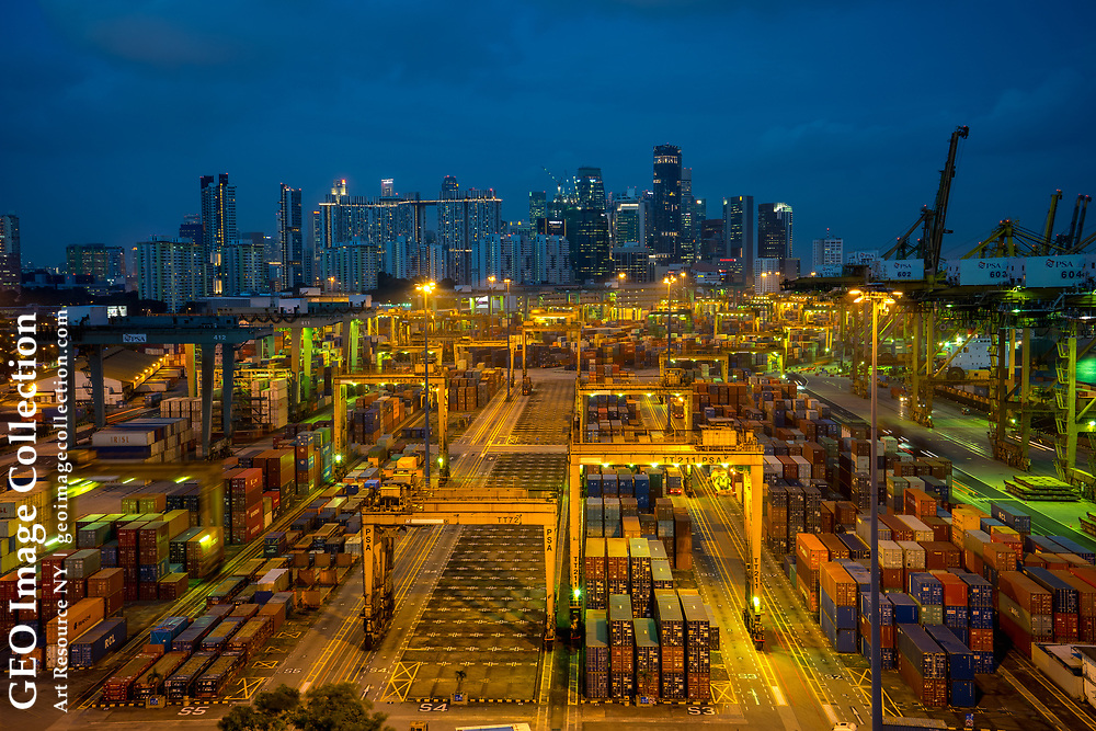 Keppel Terminal: Day and night, the cranes continue to work 24/7, 365 days a year at the world's busiest transhipment hub in Singapore.