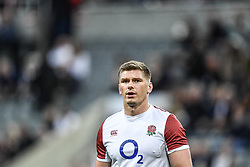 Owen Farrell of England during the pre match warm up<br /> <br /> Photographer Craig Thomas/Replay Images<br /> <br /> Quilter International - England v Italy - Friday 6th September 2019 - St James' Park - Newcastle<br /> <br /> World Copyright © Replay Images . All rights reserved. info@replayimages.co.uk - http://replayimages.co.uk