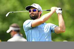 May 4, 2019 - Charlotte, NC, U.S. - CHARLOTTE, NC - MAY 04: Adam Hadwin plays his shot from the 13th tee during round three of the Wells Fargo Championship on May 04, 2019 at Quail Hollow Club in Charlotte,NC. (Photo by Dannie Walls/Icon Sportswire) (Credit Image: © Dannie Walls/Icon SMI via ZUMA Press)