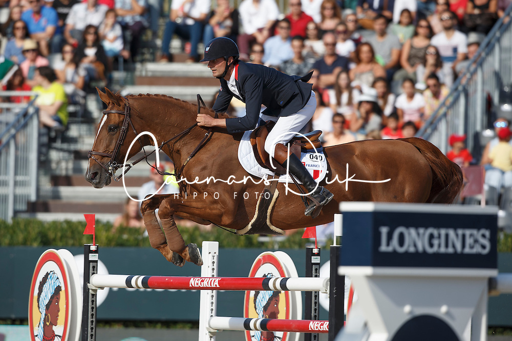 Delmotte Nicolas, (FRA), Number One d Islo Un Prince <br /> First Round<br /> Furusiyya FEI Nations Cup Jumping Final - Barcelona 2015<br /> © Dirk Caremans<br /> 24/09/15