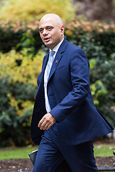 London, October 31 2017. Communities and Local Government Secretary Sajid Javid attends the UK cabinet meeting at Downing Street. © Paul Davey