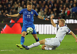 "March 23, 2019 - Udine, Italia - Foto LaPresse/Andrea Bressanutti.23/03/2019 Udine (Italia).Sport Calcio.Italia vs. Finlandia - European Qualifiers - Stadio ""Dacia Arena"".Nella foto: immobile..Photo LaPresse/Andrea Bressanutti.March  23, 2019 Udine (Italy).Sport Soccer.Italy vs Finland - European Qualifiers  - ""Dacia Arena"" Stadium .In the pic: immobile (Credit Image: © Andrea Bressanutti/Lapresse via ZUMA Press)"