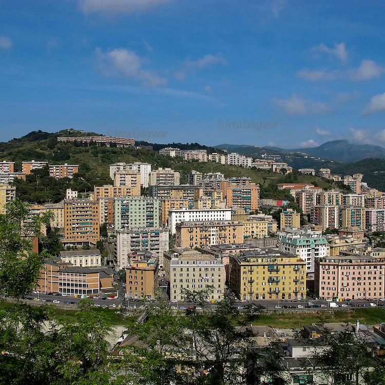 Genova landscape. A popular neighborhood in Genoa