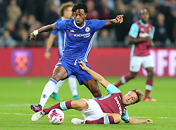 26 October 2016 - EFL Cup - 4th Round - West Ham v Chelsea - Mark Noble of West Ham tackles  Nathaniel Chalobah of Chelsea - Photo: Marc Atkins / Offside.