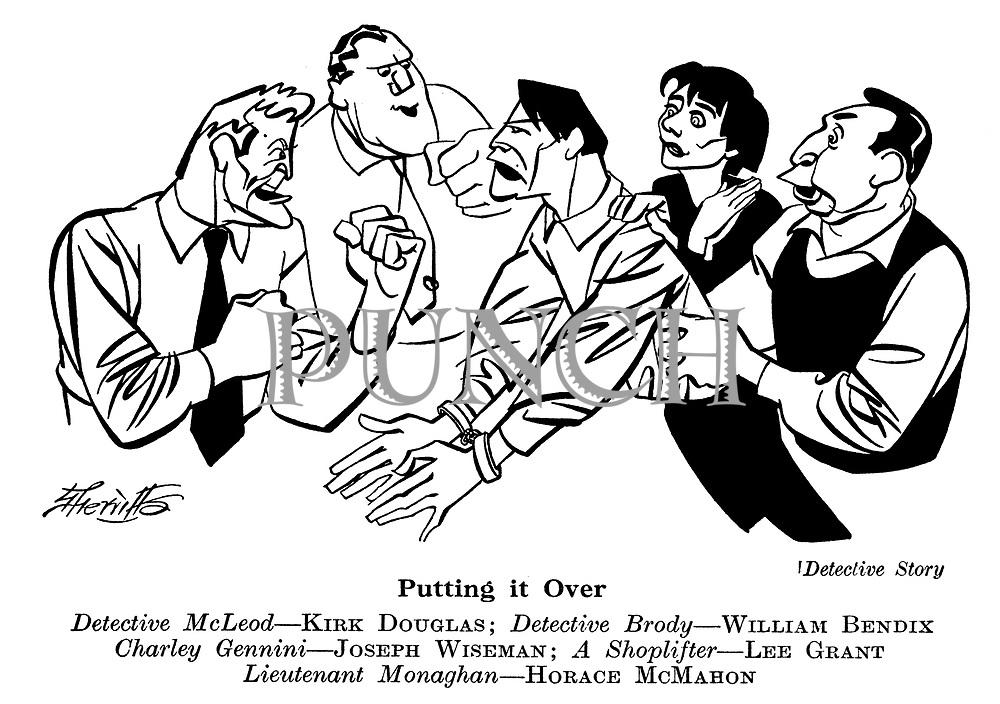 Detective Story : Kirk Douglas , William Bendix , Joseph Wiseman , Lee Grant and Horace McMahon