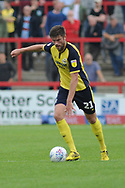 Scunthorpe United Defender, Cameron Burgess (21) during the EFL Sky Bet League 1 match between Accrington Stanley and Scunthorpe United at the Fraser Eagle Stadium, Accrington, England on 1 September 2018.