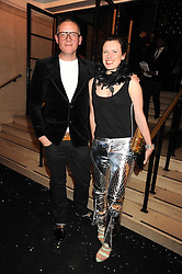 GILES DEACON and KATIE GRAND at the 2008 British Fashion Awards held at the Lawrence Hall, Westminster, London on 25th November 2008.