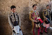 Mexican Matadors wait to enter the ring at the Plaza de Toros in San Miguel de Allende, Mexico.
