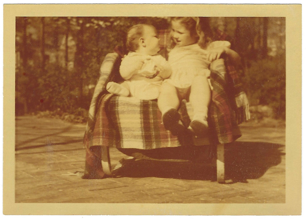 Blank, from April 1946. Possibly my dad (Steve), and his older sister, Gail