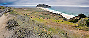 Panoramic view of the Pacific coast along the Highway One, south of Monterey, Big Sur, California, 2009.