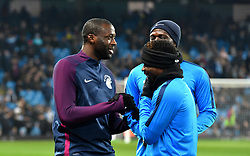 Manchester City's Yaya Toure (left) prior to kick off