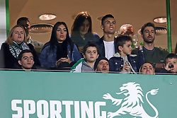 February 3, 2019 - Lisbon, PORTUGAL, Portugal - Cristiano Ronaldo and Georgina Rodríguez see the game on the stands during the League NOS 2018/19 footballl match between Sporting CP vs SL Benfica. (Credit Image: © David Martins/SOPA Images via ZUMA Wire)