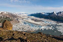 Lowell Glacier in Kluane National Park, Yukon