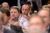 22 NOV 2019, LEIPZIG/GERMANY:<br /> Friedrich Merz, Rechtsanwalt, Lobbyist und ehem.  Vorsitzender der CDU/CSU-Bundestagsfraktion, in den Reihen der Delegierten aus NRW; CDU Bundesparteitag, CCL Leipzig<br /> IMAGE: 20191122-01-131