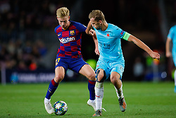 November 5, 2019, Barcelona, Catalonia, Spain: November 5, 2019 - Barcelona, Spain - Uefa Champions League Stage Group, FC Barcelona v Slavia Praga: Frenkie De Jong of FC Barcelona dribbles Soucek of Slavia Prague. (Credit Image: © Eric Alonso/ZUMA Wire)