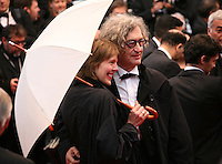 Director Wim Wenders and Donata Wenders at the red carpet for the gala screening of Jimmy P. Psychotherapy of a Plains Indian film at the Cannes Film Festival 18th May 2013