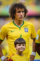 David Luiz na partida entre Brasil x Colombia, válida pelas quartas de final da Copa do Mundo 2014, no Estádio Castelão, em Fortaleza-CE. FOTO: Jefferson Bernardes/ Vipcomm