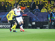 Harry Kane of Tottenham Hotspur against Julian Weigl of Borussia Dortmund during  the Champions League round of 16, leg 2 of 2 match between Borussia Dortmund and Tottenham Hotspur at Signal Iduna Park, Dortmund, Germany on 5 March 2019.