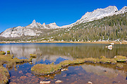 Matthes Crest and Echo Peaks from Echo Lake, Yosemite National Park, California
