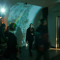 Visitors watch a free exhibition in Terror House Museum during Hungary's national holiday commemorating the revolution of 1956 in Budapest, Hungary on October 23, 2014. ATTILA VOLGYI