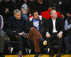 February 27, 2019 - Los Angeles, California, U.S - Adam Sandler attends an NBA basketball game between Los Angeles Lakers and New Orleans Pelicans Wednesday, Feb. 27, 2019, in Los Angeles. (Credit Image: © Ringo Chiu/ZUMA Wire)