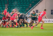 Sale Sharks Will Cliff sets to pass during the Gallagher Premiership Rugby match Northampton Saints -V- Sale Sharks won by Sale 34-14 at Franklin's Gardens, Northamptonshire ,England United Kingdom, Tuesday, September 29, 2020. (Steve Flynn/Image of Sport)