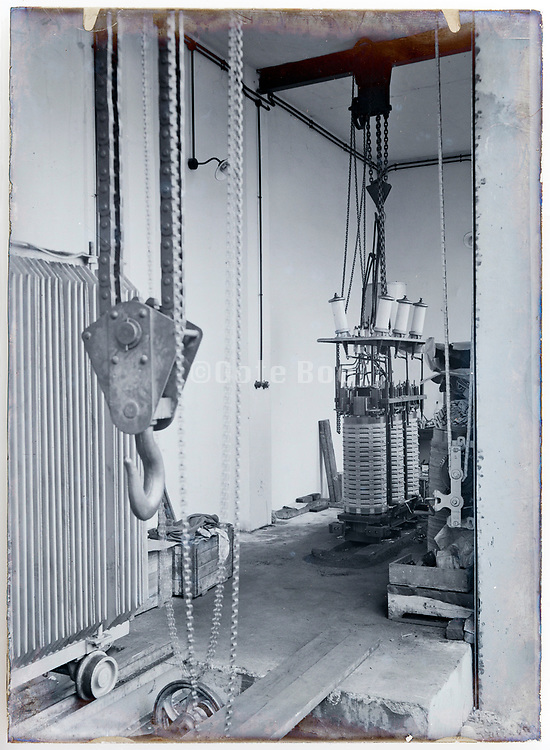 1900s inside a early electrical high voltage power distribution transformers network