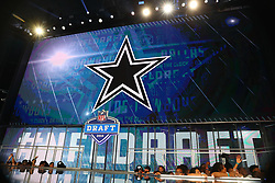 April 26, 2018 - Arlington, TX, U.S. - ARLINGTON, TX - APRIL 26:  The Dallas Cowboy logo on the video board before the Dallas Cowboys make the 19th pick during the first round at the 2018 NFL Draft at AT&T Statium on April 26, 2018 at AT&T Stadium in Arlington Texas.  (Photo by Rich Graessle/Icon Sportswire) (Credit Image: © Rich Graessle/Icon SMI via ZUMA Press)