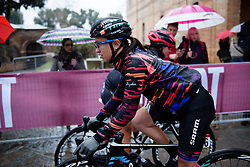 Kasia Niewiadoma at Strade Bianche - Elite Women 2018 - a 136 km road race on March 3, 2018, starting and finishing in Siena, Italy. (Photo by Sean Robinson/Velofocus.com)