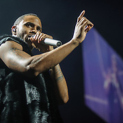 WASHINGTON, DC - February 22, 2015 - Trey Songz performs at the Verizon Center in Washington, D.C. as part of the Between The Sheets Tour with Chris Brown. (Photo by Kyle Gustafson / For The Washington Post)