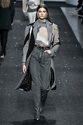Milan Fashion Week Fashion for women autumn winter 2019 - 2020. Alberta Ferretti fashion show. In the photo: model