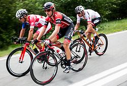 Jon Bozic (SLO) of KK Adria Mobil, Andi Bajc (SLO) of Amplatz - BMC, Matthias Krizek (AUT) of Tirol Cycling Team during Stage 1 of 24th Tour of Slovenia 2017 / Tour de Slovenie from Koper to Kocevje (159,4 km) cycling race on June 15, 2017 in Slovenia. Photo by Vid Ponikvar / Sportida